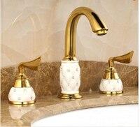 Nuovo arrivo oro ottone diamante di ceramica lavabo caldo e freddo rubinetto del bacino miscelatore del bacino tap. rubinetto di lusso. tap toilette bagno miscelatore