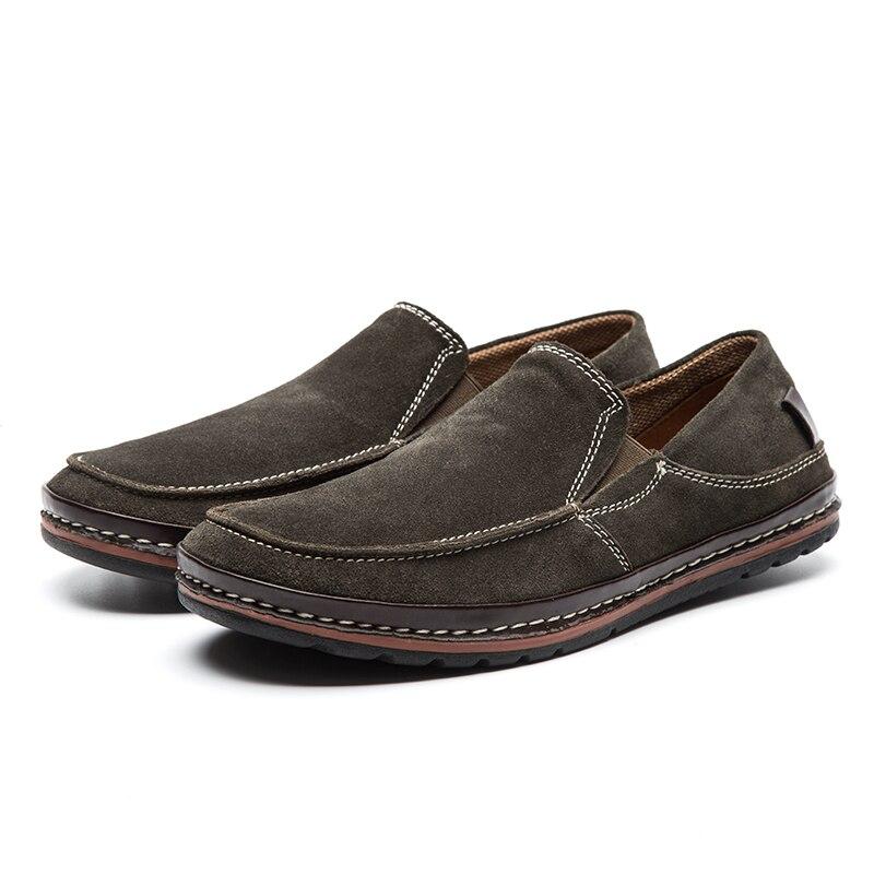 Les Sur Mode De Mocassins Pour Chaussures Lingge Hommes Cuir Brown Designer green Sport En 1 Automne Suede Chaussures Glissement 5331 qPzOfv