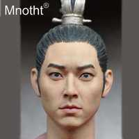 Asia Ancient Emperor Head Sculpt for 12in Resin Action Figure Toy 1/6 Scale Male Soldier Head Carving King of Korea Model Mnotht