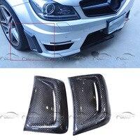 Carbon Fiber Car Styling Front Fender Bumper Vent mask for Mercedes Benz W204 C63 AMG 2008 2011