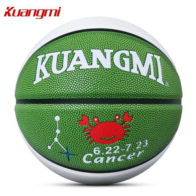 Kuangmi 2017 NEW 12 costellazioni Basket ufficiale size 7 Partita di Calcio Colorato Palla Da Basket migliore regalo di Ringraziamento