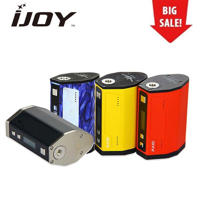 Original 315 W IJOY MAXO QUAD 18650 TC boîte MOD e-cig Vape Mod alimenté par 4x18650 batterie VW/Ti/Ni/SS Mod mise à niveau du micrologiciel