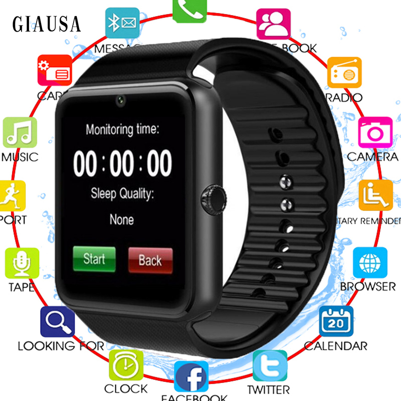 Smart Watch GT08 Sport Health Men Women Wristwatch Smart Electronics Smartwatch With Camera SIM TF Card For IOS Android Phone