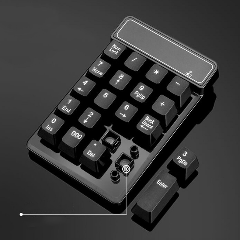 2.4GHz Mini USB Wireless Numeric Keypad 19 Keys Number Pad Numpad Receiver For Windows XP/7/ 8 Laptop PC Computer JLRJ88