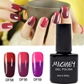 New Brand MICHEY UV Gel Shiny Red French Manicure Temperature Change Color Thermal Nail Polish Gel Semi Permanent Vernis a Ongle