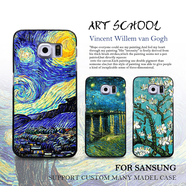084d649bc Van Gogh Painting Phone Case For Samsung Galaxy s8 plus s7 s6 edge s5 Note  5 Case Starry Night Sunflower Painted Soft Case