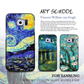 Van gogh pintura teléfono case para samsung galaxy s7 s6 edge s5 s4 s3 nota 5 case noche estrellada girasol pintado duro case