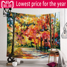 PEIYUAN Fairy Forest Tapestry Bohemian Wall Hanging Tapestry Forest Starry for Home Wall Decorations Tapestries Wall Tapestry forest stream sunlight waterproof wall hanging tapestry