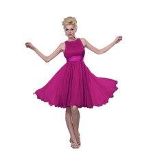 MDBRIDAL Kurze Modest Frauen Formales Kleid Knielangen Chiffon Kleid