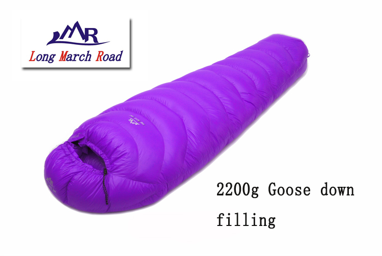 LMR 2200G goose down filling outdoor splicing mummy ultra-light winter sleeping bag black ice g700 blue red single mommy splicing ultra light winter outdoor adult goose down sleeping bag with carrying bag page 8