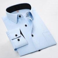 2017 New Fashion Men Shirts Long Sleeve Turn Down Collar Cotton Occupational Men S Shirts Male