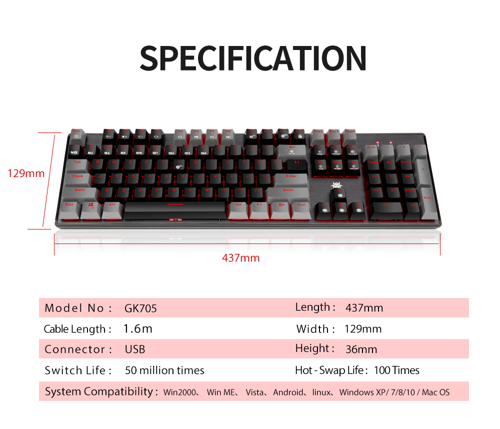 FLASH SALE] HEXGEARS GK715 Kailh Box Switch Gaming Keyboard