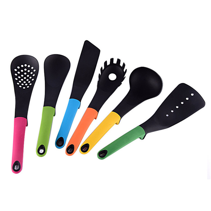 US $30.98 |6Pcs Nylon Kitchenware Tools Heat Resistant Nonstick Pan Kitchen  Cooking/Baking Spoon Shovel Pasta Scoops Kitchen Gadget Sets 47-in Kitchen  ...