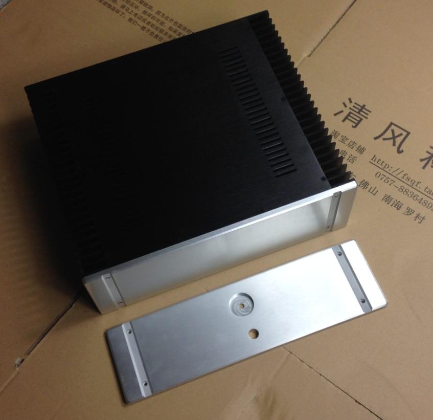 case size:430*150*361mm New 4315 PASS Full aluminum amplifier chassis/Class A amplifier Case/AMP Enclosure/amplifiercase/DIY box new 3213 full aluminum chassis amplifier case external size 320 130 313mm
