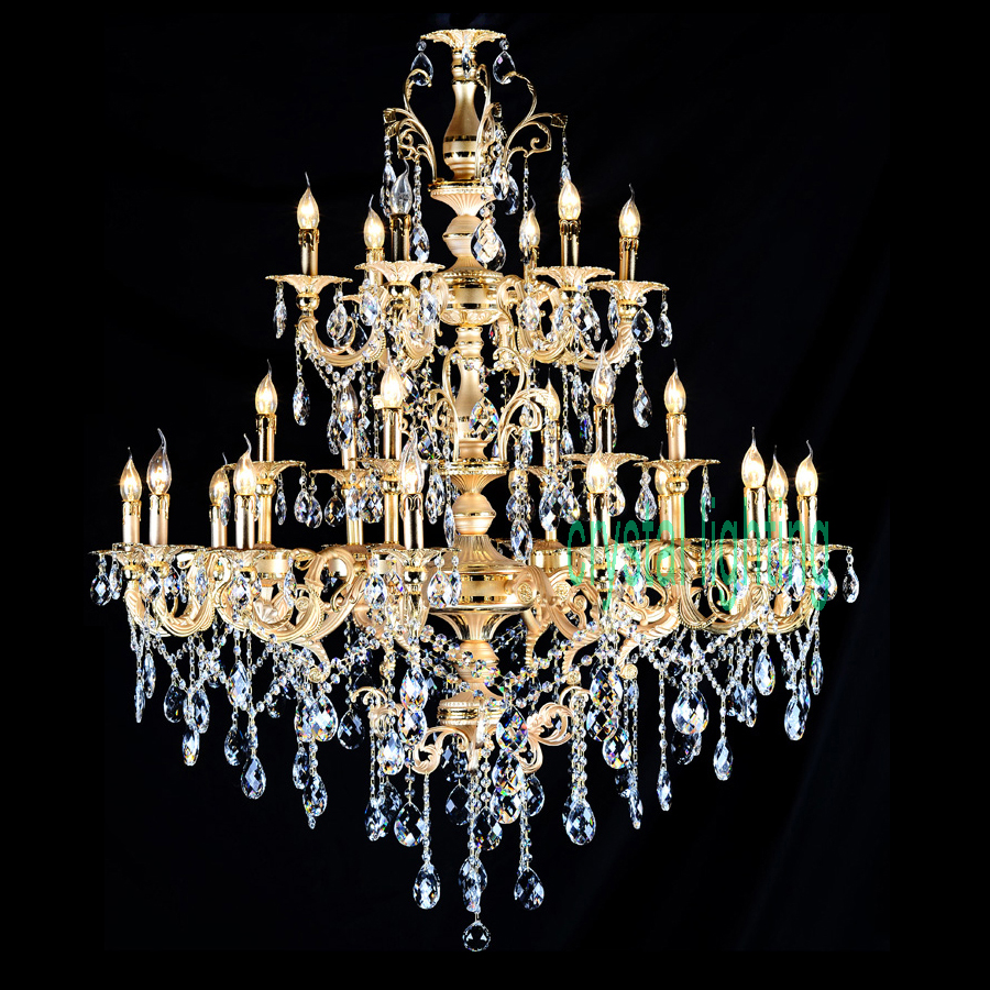 Big chandelier hotel project villa chandelier lamp 24 lights luxury big chandelier hotel project villa chandelier lamp 24 lights luxury crystal chandelier led interior lighting led lamps candle in chandeliers from lights aloadofball Choice Image