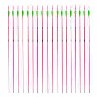 6/12 pack 30 inch Arrows Archery Target Practice Fiber Glass Pink Shaft 1000 Spine for Compound Bow Glassfiber Arrows