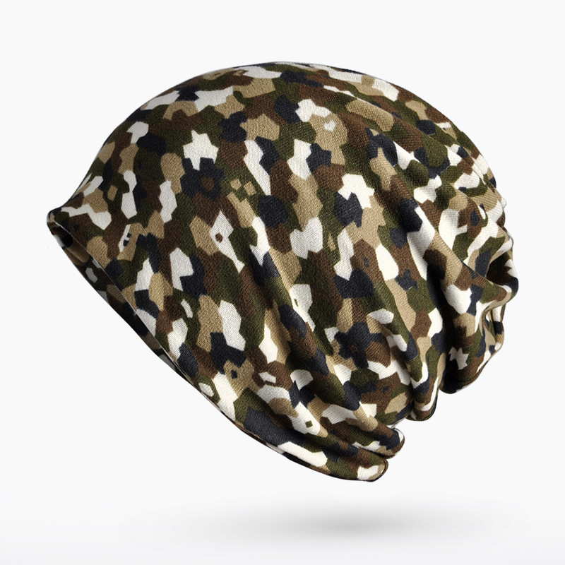 Scarf hat autumn and winter cap cap men and women general fashion camouflage pattern ride windbreak head cap 0239 skullies 2017 new arrival hedging hat female autumn and winter days wool cap influx of men and women scarf scarf hat 1866729