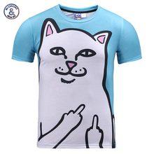 2017 Mr.1991INC New Fashion Men/girls summer time tops tees shirt humorous print cat hip hop 3d t-shirt Asian plus dimension XXXL