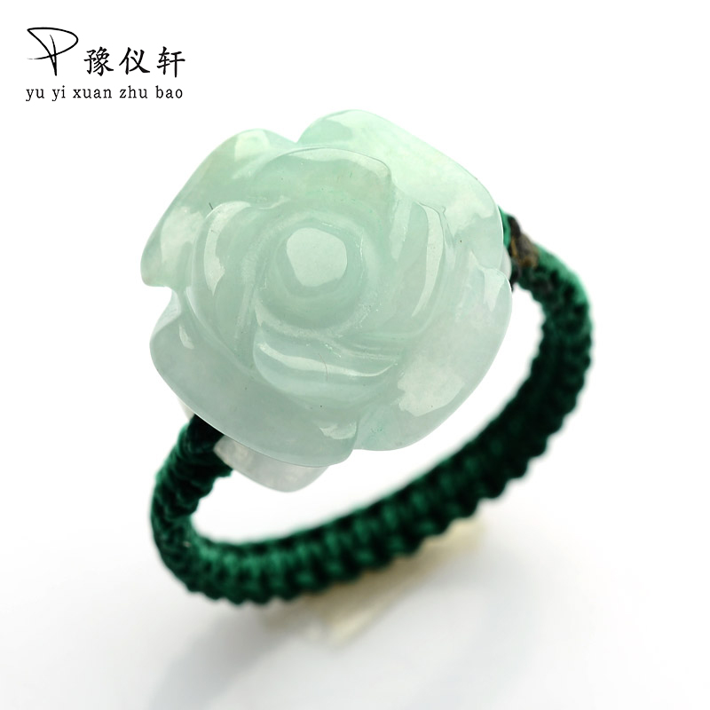 Car Jade Carvings Roses Jade Circles Authentic Jade Handmade Women's Rings 00116 tianyu jade