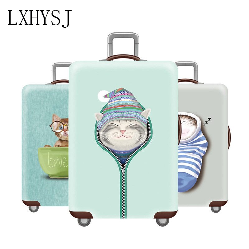 Thicken Luggage Cover Cat Pattern Travel Suitcase Protective Covers Suitcase Cover Suitable For 18-32 Inch Suitcase Case