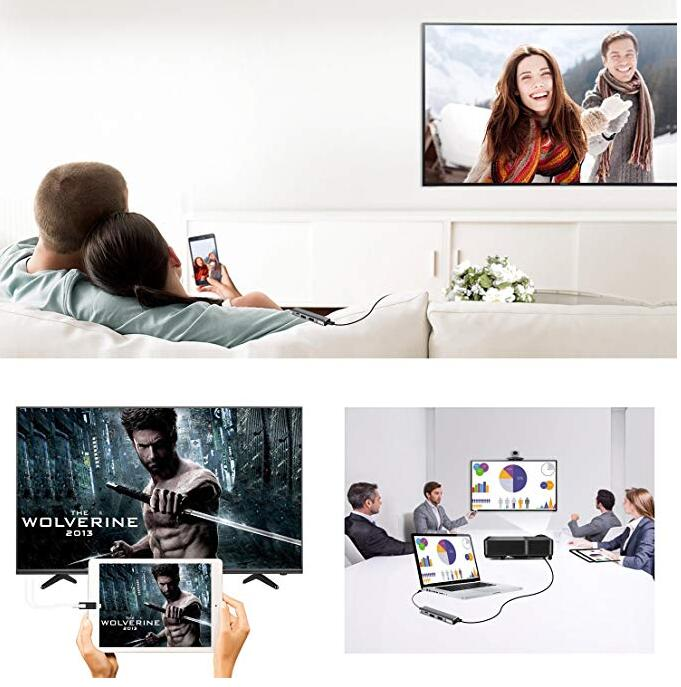 Docking Station 4K Video Output for Samsung Dex Galaxy S8 S9 S10/Plus Note 8/9 Tab s4 s5e to TV Monitor Projector USB C Hub