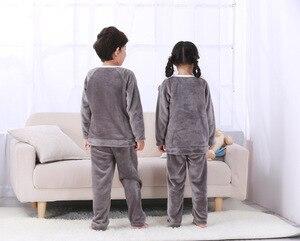 Image 5 - 4 15Y Cartoon Jongen Meisjes Pyjama Sets Pluche Warm Peuter Meisje Nachtkleding Kleding Baby Broek Kids Nachtjapon Kleding Homewear HONG01