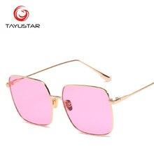 2019 fashionable sunglasses hot sale women sun glasses square stainless steel mirror UV400 28006