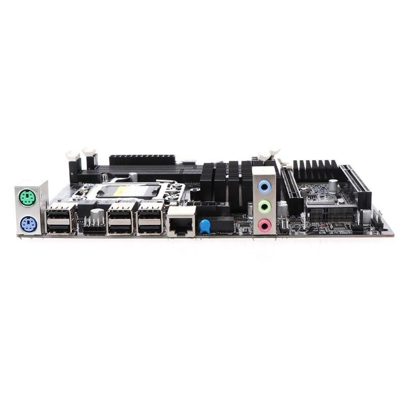 Placa base de escritorio X58 LGA 1366 Pin DDR3 placa base de ordenador para L/E5520 X5650 RECC INTEL XONE L5640 CPU INTEL L5640 procesador seis core 2,26 MHZ LeveL2 12M para lga 1366 montherboard