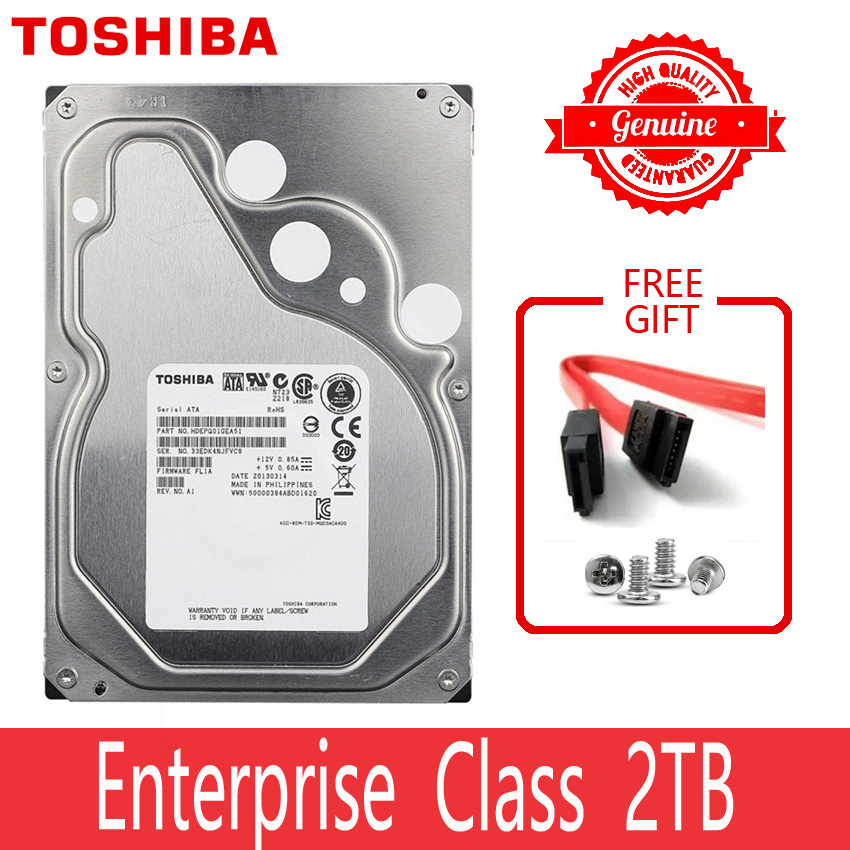 TOSHIBA Enterprise Class 2TB Hard Drive Disk 2000GB HDD HD Internal SATA 3 7200RPM 64M 3