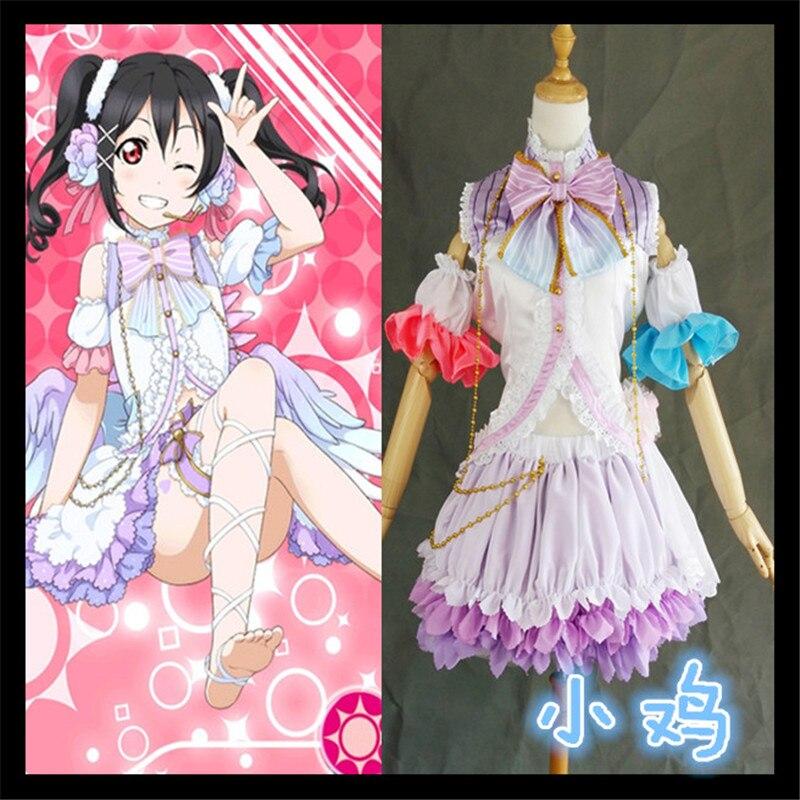 Fashion Love Live! Yazawa Nico White Valentine's Day Angels Awakening Cosplay Costume Girls Lolita Costume