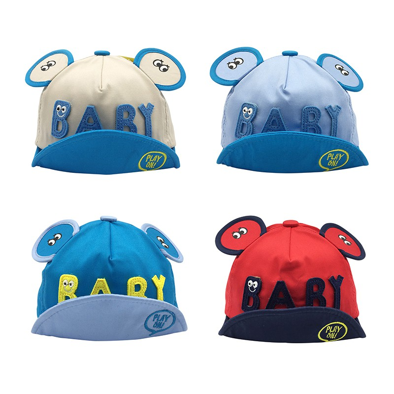 Eye baby cotton cartoon baby cap spring and summer Korean boys and girls soft skull baseball caps children 39 s cap in Hats amp Caps from Mother amp Kids