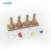 유아 장난감 몬테소리 어린 시절 교육을위한 트레이 나무와 대형 분수 skittles 유치원 어린이 brinquedos juguetes