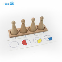 Baby Toy Montessori Large Fraction Skittles With Tray Wood for Early Childhood Education Preschool Kids Brinquedos Juguetes