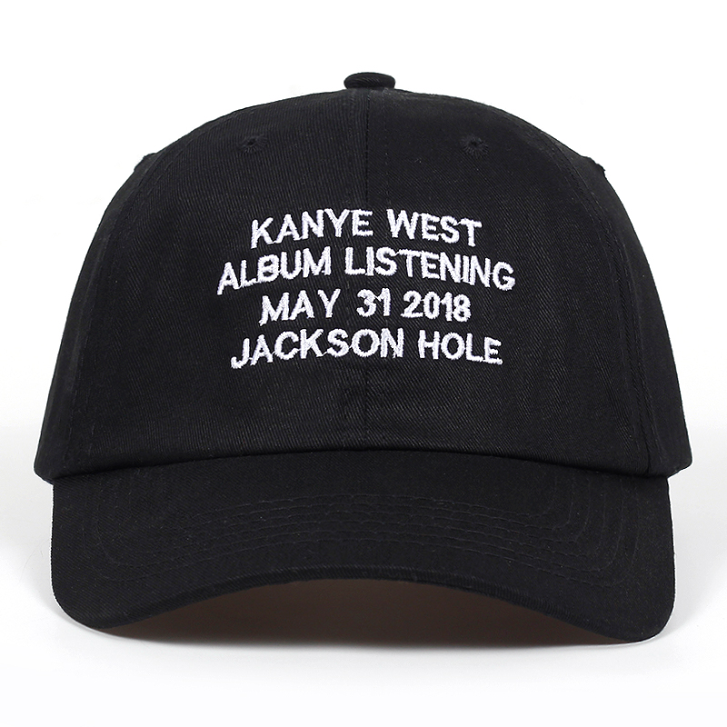 kanye west album listening may 31 2018 jackson hole dad hat Cotton   Baseball     Cap   Men Women Hip Hop Snapback golf   Cap   hats Bone