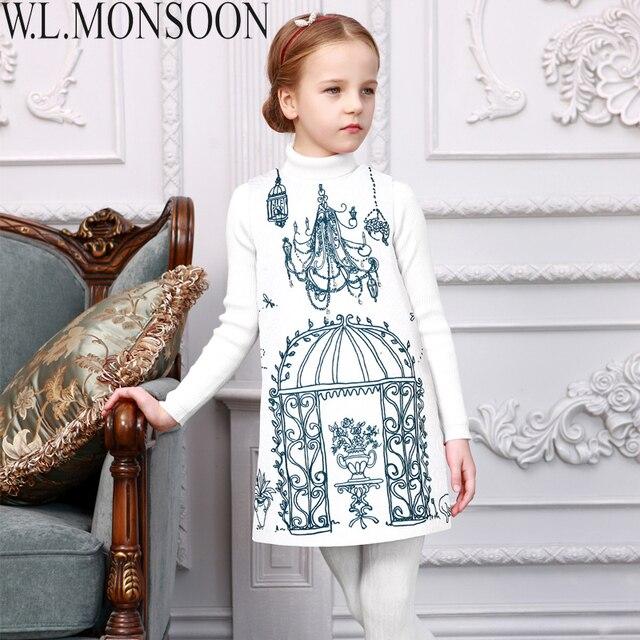 2469b0a9a091 W.L.MONSOON Girls Winter Dress Princess Costume 2016 Brand Toddler ...