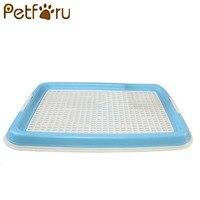 Petforu屋内ペット犬トイレトレーニングクリーニングパッドプラスチックペットトイレトレイマットペット用品-ブル