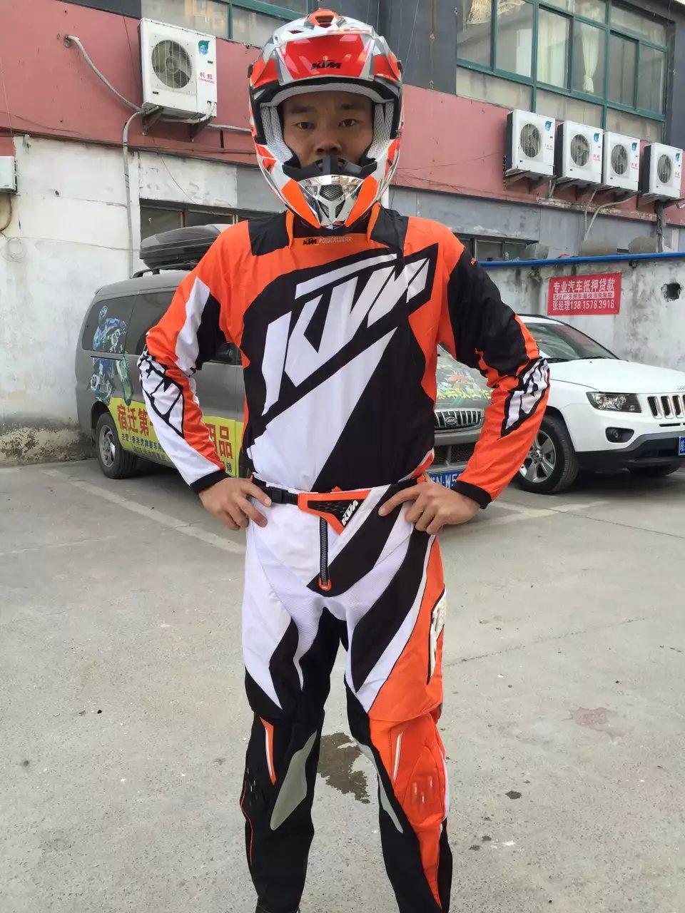 Equipo de carreras de motocross KTM Motocross Jersey/pantalones de Carreras de Motocross traje