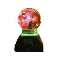 4 Inch Touch Sensitive Photoelectric Magic Ball Luminous Magic Ball Creative Glass Craft Gift Home Decoration Accessories Modern