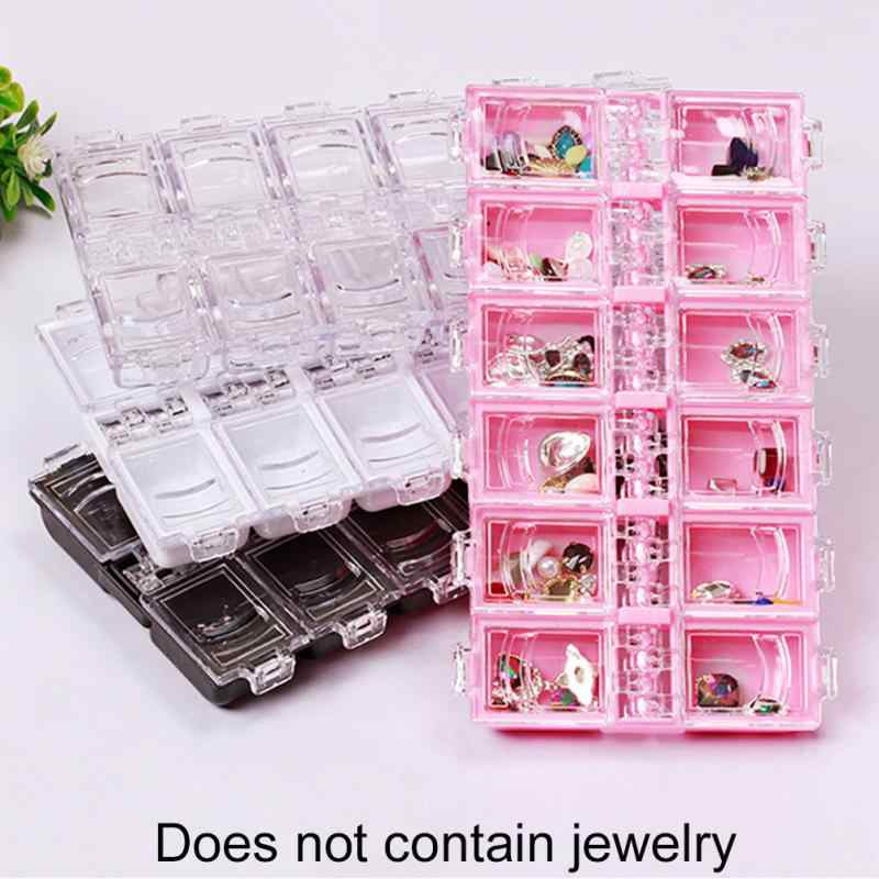 12 Grids Empty Nail Art Decoration Storage Case Box Rhinestone Nail Glitter Crystal Beads Nail Diamond Container Nail Tool #20