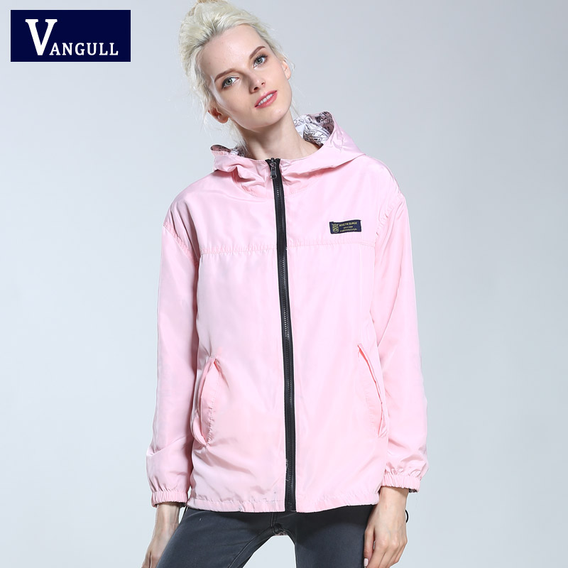 Women   Jacket   Coats wear on both sides 2017 New Spring Summer High Quality Casual Cute Candy Color Hooded   basic     Jacket   Outerwear