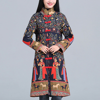 Flowers Coat Cotton Thick Cotton Padded Coat