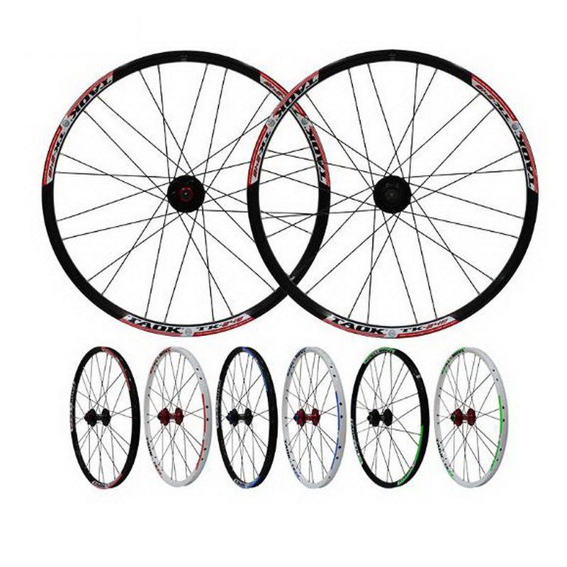 цена на 230911/ 24-inch mountain wheel group Bicycle quick-release flower drum aluminum alloy double-layer disc disc brake wheel rim