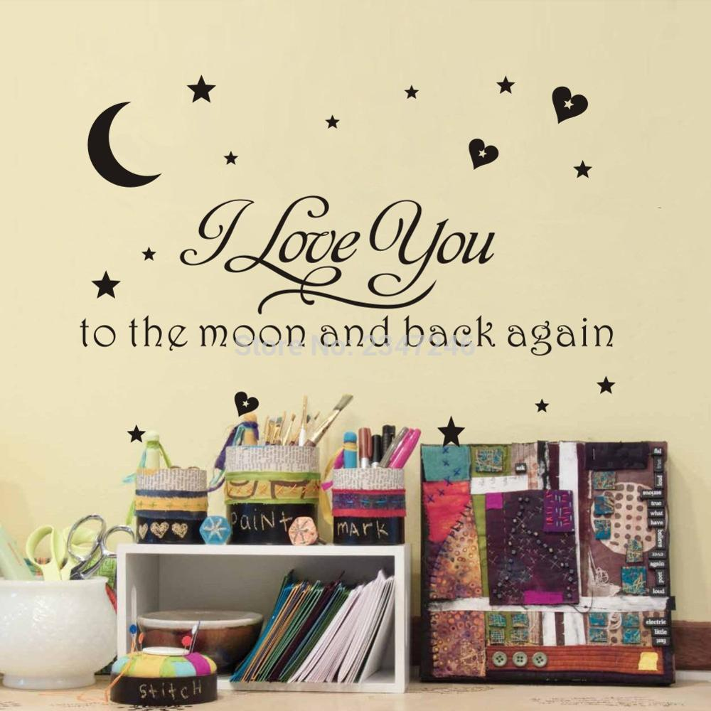 online get cheap love children quotes aliexpress com alibaba group i love you to the moon and back again quotes wall decals baby nursery kids children