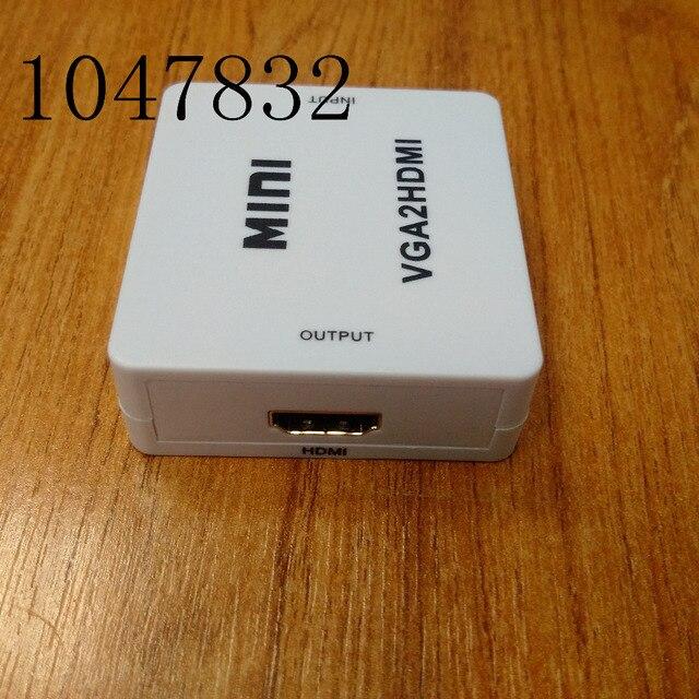 1080 P HD Video Converter Адаптер VGA для HDMI Coverter Окно мини Композитный VGA к HDMI Box Бесплатная Доставка С Розничной пакет