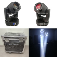 (6 lichter + FALL) professionelle led bühne beleuchtung moving head 3 prisma 200 watt moving head spot licht dmx led moving