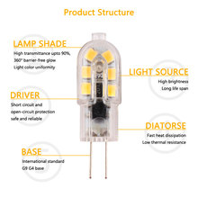 цена на G4 G9 Led lamp 12v 220v G4 G9 led light bulb cob light 12v Corn White and Warm White color Halogen Tube High Quality Chandelier