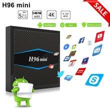 S905W H96 mini Smart tv box android 7.1 Amlogic Quad core 2 gb gb Flash 4 16 k 1080 p HD 2.4g/g wi-fi BT4.0 5 android tv set top box