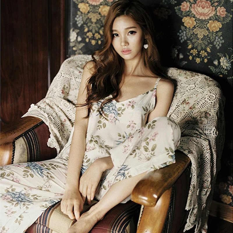 אביב הגעה חדש של AutumnWomen פיג 'מות סט 3 Piece סט שינה ארוך הלבשת צווארון V בגדים מקורה יאקאטה קימונו יפני גברת
