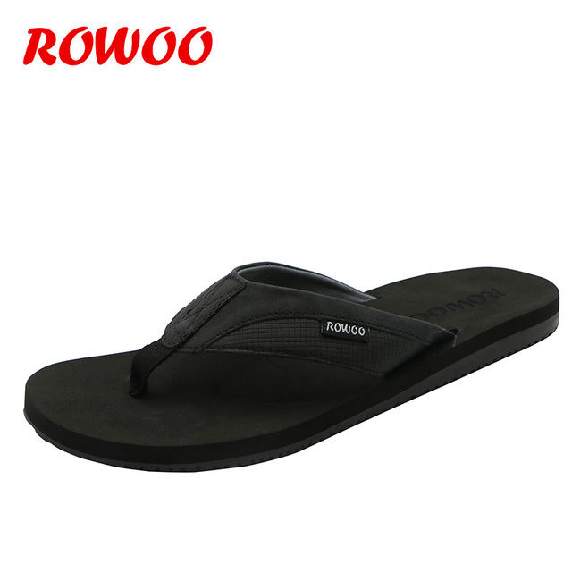 PU Leather Slippers Men Beach Flip Flops Breathable Fashion Flip-Flops For Men Summer Shoes Causal Sandals Indoor Male Slippers 1