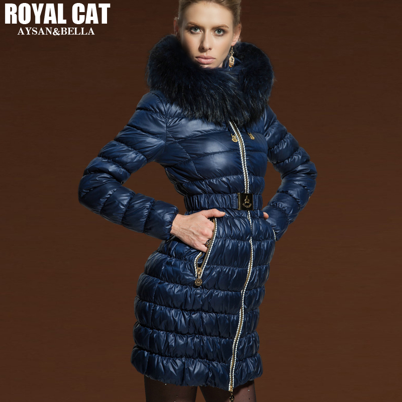 Luxury RACCOON Fur Hooded 90% Duck Down Jacket Women 2016 Winter Jackets Long coats slim medium-long thicken down coat Outwear